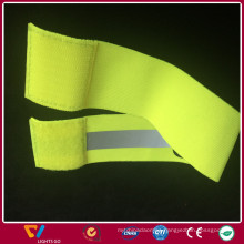 Night vision 100%polyester luminous woven reflective elastic band